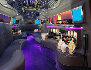Tampa Hummer limousine interior